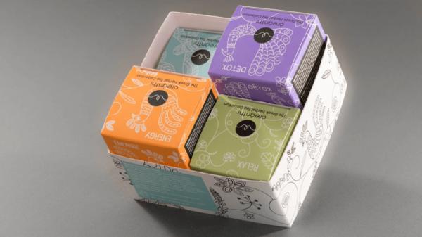Fotolio erga ektyposeis syskevasia packaging oreanthi herbal tea collection